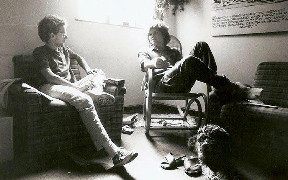 Com Arrigo Barnabé, São Paulo (1987). Foto Juvenal Pereira