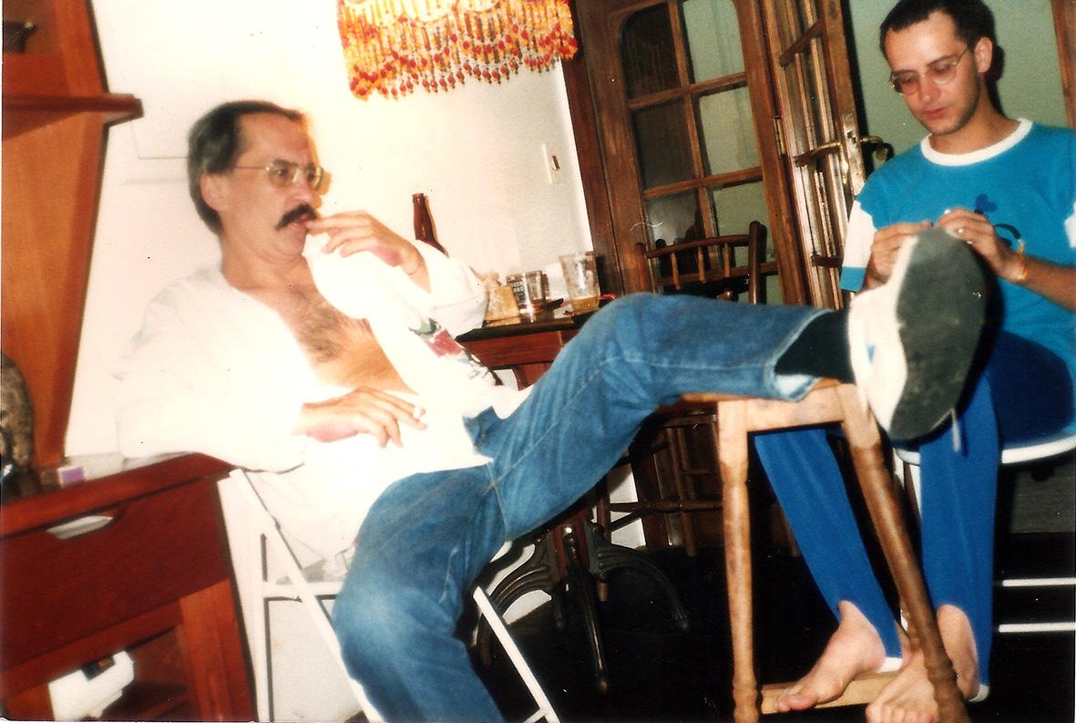 Com Paulo Leminski (1988). Foto Fortuna