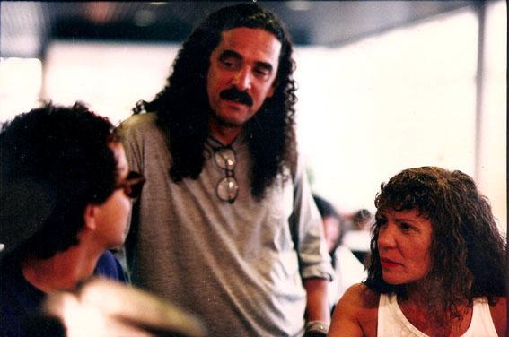 Com Moraes Moreira e Elba Ramalho, Recife (1993). Foto Dario Zallis