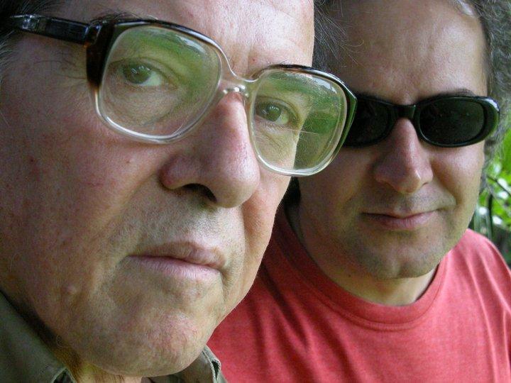 Com Roberto Piva, São Paulo (2004). Foto Juvenal Pereira