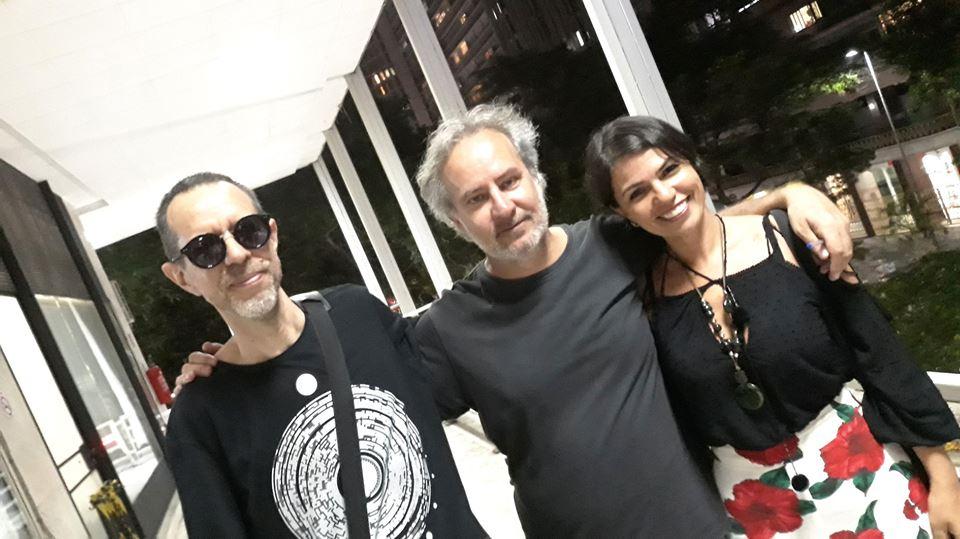 Com Diana Junkes e Nelson de Oliveira, São Paulo (2018).